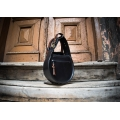 Black leather bag with Brown accents Inez from new collection stylish woman tote