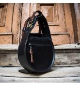 Czarna skórzana torebka z Brązowymi akcentami Inez z nowej kolekcji stylowa damska torebka