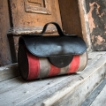 Leather bag in three colours Meggy made by Ladybuq Art in Raspberry, Grey and Black colours