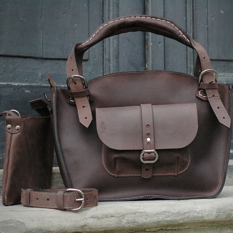 brown leather made by ladybuq out of highest quality natural leather