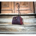 Leather bag made out of natural leather original new collection bag Alex made by Ladybuq Art