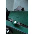 Kuferek z kopertówką zielony