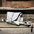 small leather purse made by ladybuq in white colour shoulder and crossbody bag