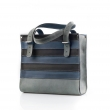 Natural leather office Square bag laptop messenger bag in Navy Blue, Black and Grey made by Ladybuq Art