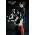 Handmade oversize tote bag with strap clutch and big exterior pocket