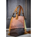 Handmade natural leather bag Alicja 4 colours unique design perfect office everyday bag