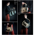 bag with strap and a clutch beautiful bag in unique colours made by polish designers