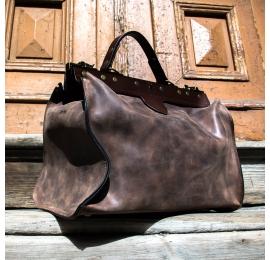 klasyczna torba męska lekarska w kolorze brązowym torebka na dokumenty od Ladybuq