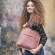 Stylowa ręcznie wykonana torebka w kolorze Ceglanym skórzana torba od Ladybuq Art