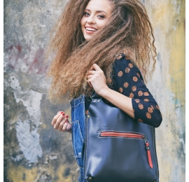Black leather bag Small Ladybuq beautiful, chic and elegant every occasion bag made by Ladybuq Art