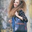czarna stylowa torba do pracy od Ladybuq art mała skórzana torebka