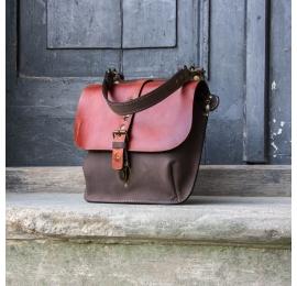 Sac en cuir et sac à main Molly taille plus grande - couleur cognac et marron