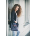 small ladybuq bag in navy blue colour made by ladybuq art roomy business and everyday bag