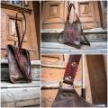 leather handy bag small ladybuq made by polish deisngers ladybuq art studio