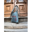 grey small ladybuq bag made by ladybuq art business and everyday bag