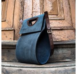 Piękna torebka z nowej kolekcji od Ladybuq Art torba na co dzień Łezka w kolorze Granatowym