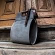 torebka skórzana wykonana ręcznie ze skóry w kolorze szarym od Ladybuq piękna torba do pracy lub na zakupy