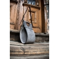 leather bag handmade out of grey colored leather by ladybuq beautiful office purse and shopping tote