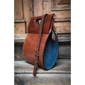 the most unique bag in our workshop the tear in beautiful ginger and navy blue colours