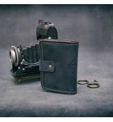 podręczny skórzany portfel od Ladybuq wykonany ręcznie mała książeczka na czeki