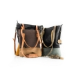 Handmade hobo bag ZOE in Light Brown and Dark Brown colors, perfect everyday or office laptop purse