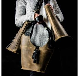 sac à main que vous pouvez facilement personnaliser conçu et fabriqué à la main en cuir véritable par ladybuq art