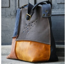 LEATHER BAG ALICJA WITH ONE STRAP FOUR COLORS ZIPPER