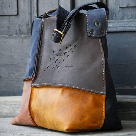 Skórzana torba Alicja z jednym paskiem cztery kolory