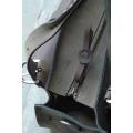 Kuferek z kieszonka  paskiem i kopertówką brąz i khaki