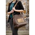 Ręcznie robiona torba Alicja z jednym paskiem i płaską kieszonką