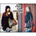 Marlena navy blue and orange original tote bag made by Ladybuq Art