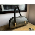 Leather woman purse Pepa larger size in Grey color