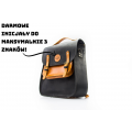 Leather handbag with shoulder strap and backpack function made by hand in two color variations by Ladybuq