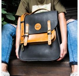 Skórzana torba do ręki z paskiem na ramię oraz z funkcją plecaka wykonana ręcznie w dwóch wersjach kolorystycznych od Ladybuq
