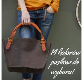 Podręcza torba Kuferek z naturalnej skóry ręcznie robiona torebka