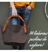 Handmade Kuferek bag made out of highest quality natural leather