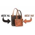 Zuza unique shopper bag made by polish designers vintage style bag with exterior zippered pocket