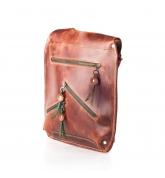Damska skórzana torebka ręcznie wykonana oversize w kolorze rudym