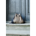 Leather woman bag rucksack made by Ladybuq Art