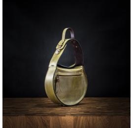 ręcznie wykonana torebka w kolorze limonkowym, torebka na ramię lub do ręki