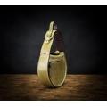 handmade leather bag in lime color, shoulder bag or handbag