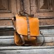 Skórzany plecak w kolorze Camelowym, torebka na ramię w 3 rozmiarach do wyboru od Ladybuq Art