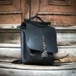 Skórzana torebka i plecak Molly 2 w 1 z długim paskiem na ukos w kolorze Czarnym od Ladybuq Art