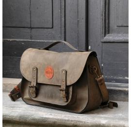 messenger ręcznie robiona torba z wytrzymałej polskiej skóry od ladybuq art
