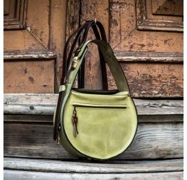 sac de couleur citron vert fabriqué par ladybuq, sac à main en cuir artisanal