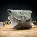 Leather original fanny pack/shoulder bag in Montana Grey color