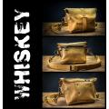 Torebka na ramię/skórzana nerka wykonana ręcznie w kolorze Whiskey