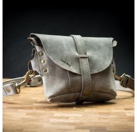 Skórzana oryginalna nerka/torebka na ramię w kolorze Montana Szary