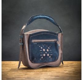 leather rita purse with large external pocket, original customizable bag