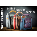 original leather bag, women shoulder or handbag purse in navy blue and plum colors